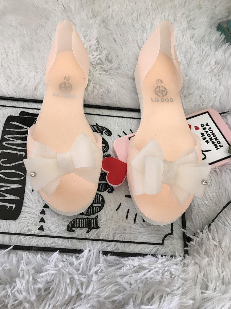 LU BOO AROMATIC PINK RUBBER SHOES BALLERINA FLATS