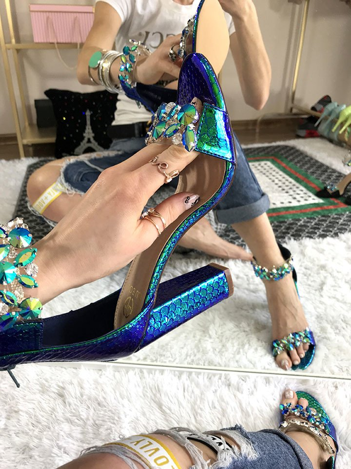 5bee2b6a822 ... Stone Block Heels Glam Click to zoom ...
