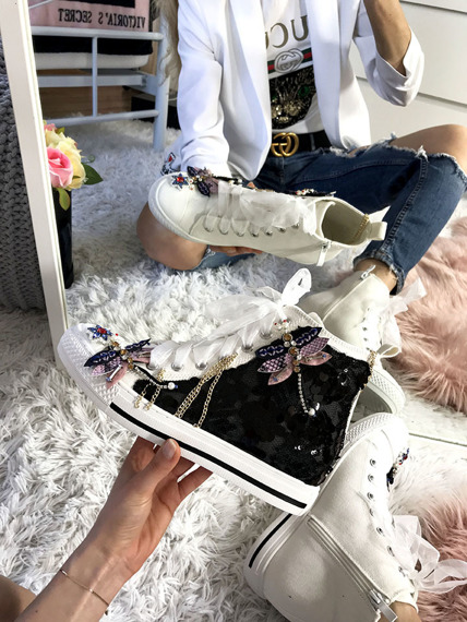 Black high top sneakers Dragonfly