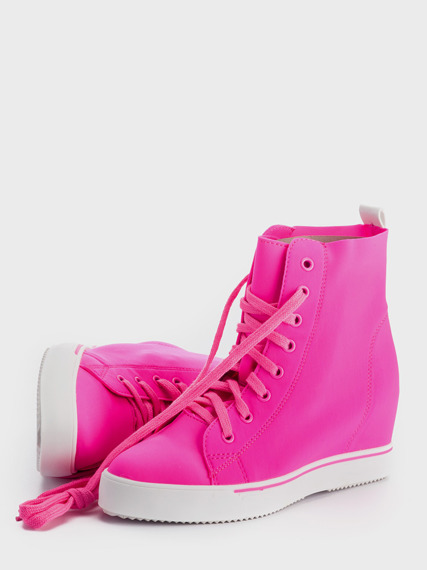 Fuchsia Sneakers Wedge Lycra