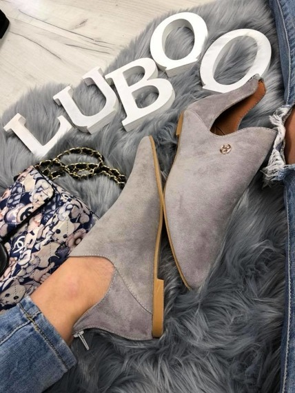 Grey Chelsea Cut Out Boots