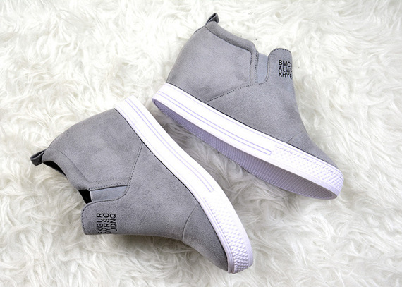 Grey Slip On Sneakers wedges Danica