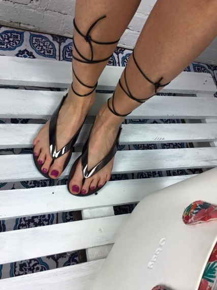 Pewter Lace Up Gladiator Sandals