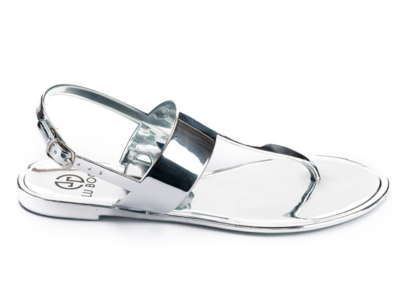 Lu Boo Blue loafer with badge Chain