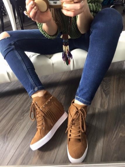 Lu Boo Camel Sneakers Andre
