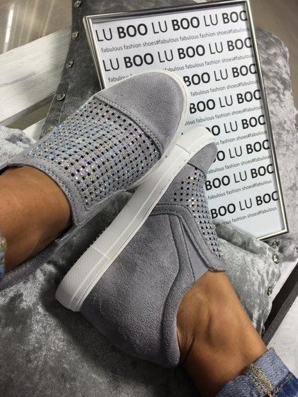Grey Slip On Sneakers wedges Abrielle