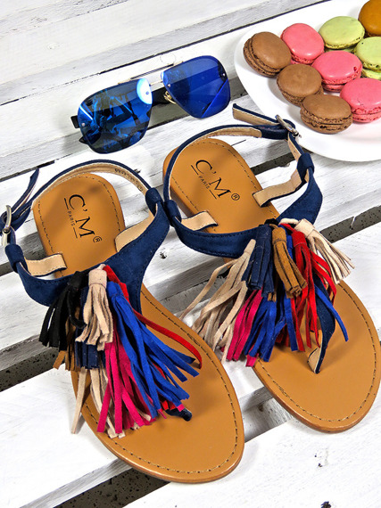 Navy Comfortable summer sandals Boho