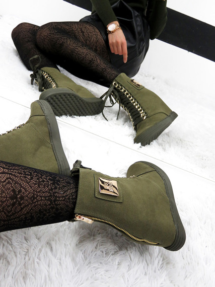 Olive Sneakers Trainers Cassi
