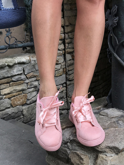 Pink Trainers Bows