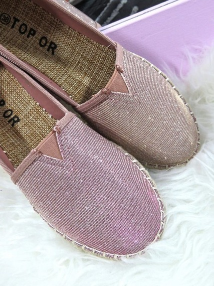 SHINY ESPADRILLE SLIP ON SHOES