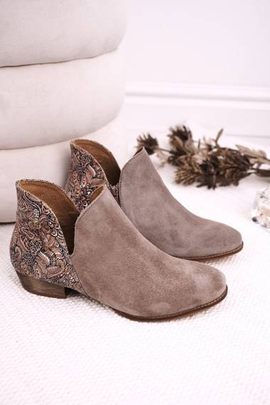 Women's Boots Flat Maciejka Leather Beige 04091-04