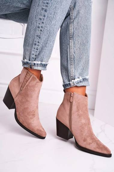 Women's Boots On High Heel Khaki Loud