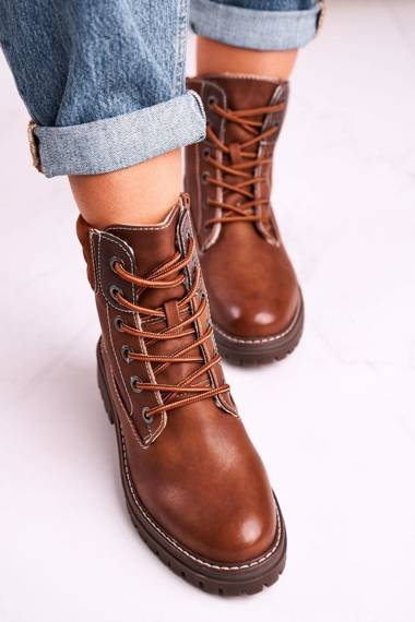Women's Insulated Workers Boots Camel Timber