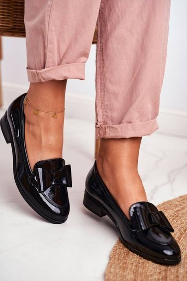 Women's Loafers Painted Bow Black Trixi