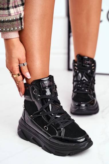 Women's Snow Boots Sneakers Black Missy