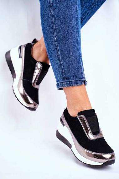 Women's Sport Shoes Sneakers Leather Black Wilimont