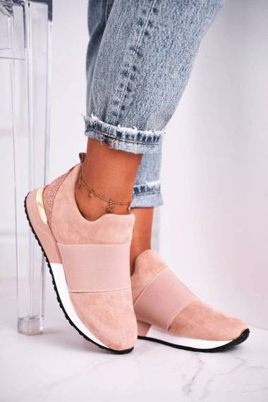 Women's Sport Shoes Sneakers Slip-on Pink Say Something