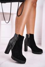 Women's Boots On High Heel Black Cissy