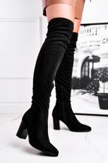 Women's High Boots Suede Black Victoria