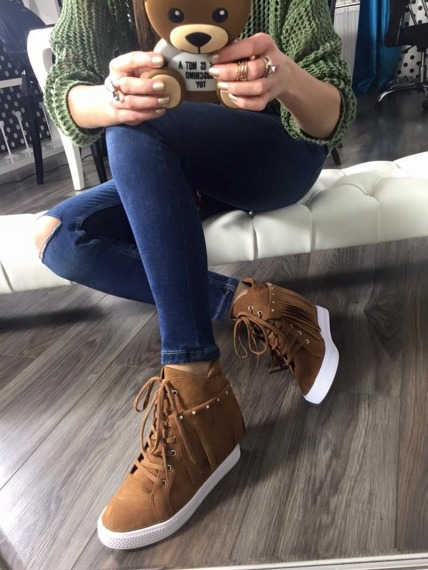 Lu Boo camel sneakersy Andre